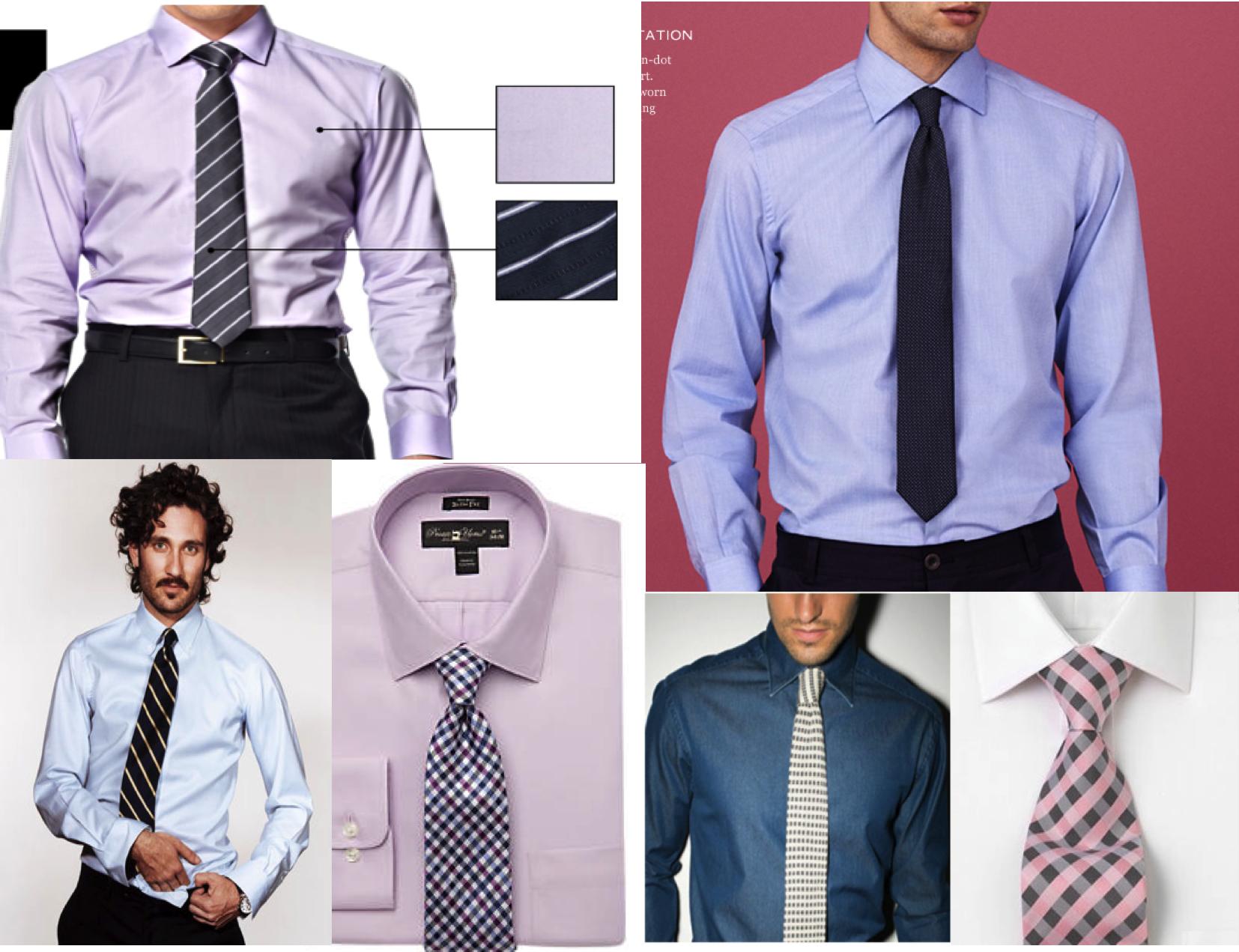 Image Gallery Light Purple Shirt Tie